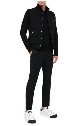 Мужской шерстяные брюки DOLCE & GABBANA черного цвета, арт. GYU6ET/FJ2B1 | Фото 2