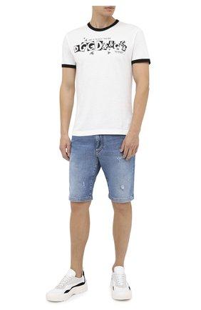 Мужские джинсовые шорты DOLCE & GABBANA голубого цвета, арт. GY4JED/G8CS2 | Фото 2