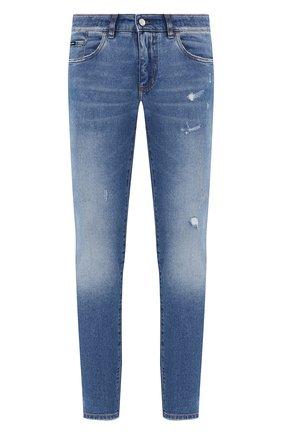 Мужские джинсы DOLCE & GABBANA голубого цвета, арт. GY07LD/G8CS2 | Фото 1