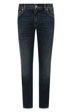 Мужские джинсы DOLCE & GABBANA синего цвета, арт. GY07CD/G8CR7   Фото 1