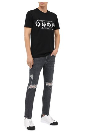 Мужские джинсы DOLCE & GABBANA серого цвета, арт. GY07CD/G8C08 | Фото 2