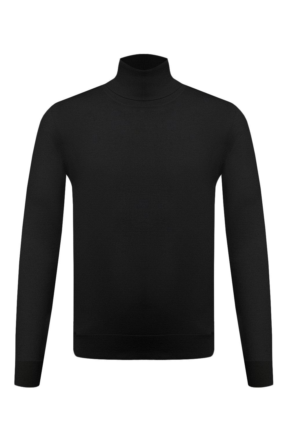 Мужской кашемировая водолазка DOLCE & GABBANA черного цвета, арт. GXB00T/JAW20   Фото 1
