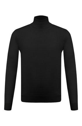 Мужской кашемировая водолазка DOLCE & GABBANA черного цвета, арт. GXB00T/JAW20 | Фото 1