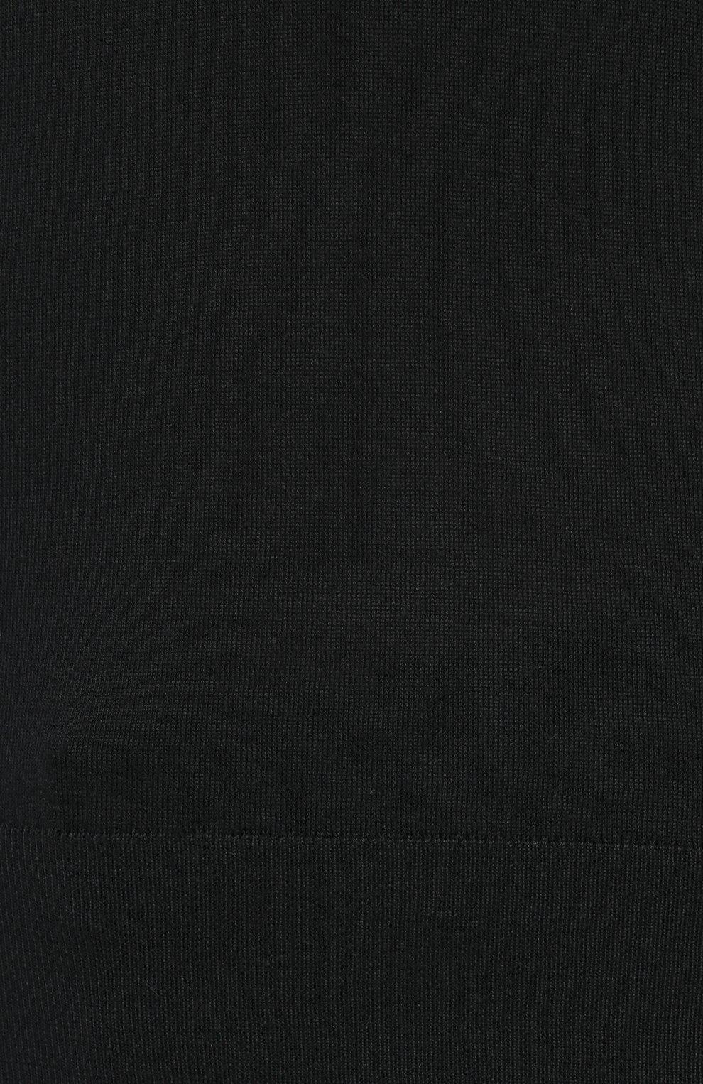 Мужской кашемировая водолазка DOLCE & GABBANA черного цвета, арт. GXB00T/JAW20   Фото 5