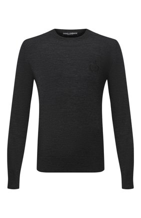 Мужской шерстяной джемпер DOLCE & GABBANA серого цвета, арт. GXA63Z/JAVWH | Фото 1