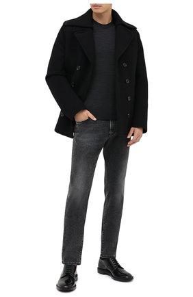 Мужской шерстяной джемпер DOLCE & GABBANA серого цвета, арт. GXA63Z/JAVWH | Фото 2
