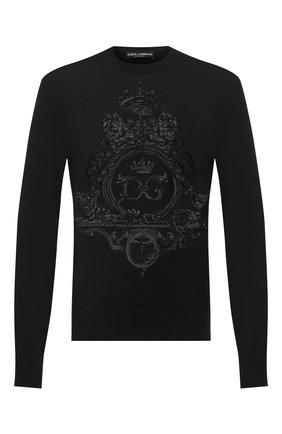 Мужской джемпер из шерсти и шелка DOLCE & GABBANA черного цвета, арт. GXA63Z/JAM3F | Фото 1