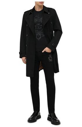 Мужской джемпер из шерсти и шелка DOLCE & GABBANA черного цвета, арт. GXA63Z/JAM3F | Фото 2