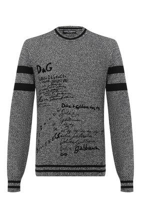 Мужской кашемировый свитер DOLCE & GABBANA серого цвета, арт. GXA63T/JAW1Z | Фото 1