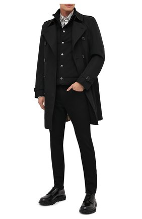 Мужской утепленный жилет DOLCE & GABBANA черного цвета, арт. G90Q9T/HU7GE | Фото 2