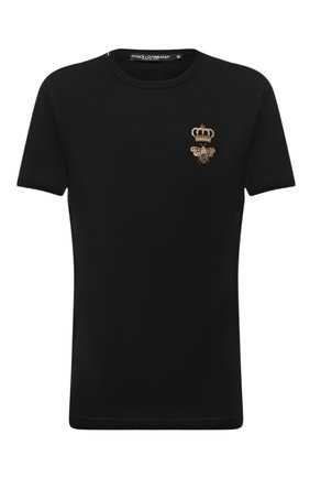 Мужская хлопковая футболка DOLCE & GABBANA черного цвета, арт. G8JX7Z/G7WUQ | Фото 1