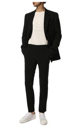 Мужская хлопковая футболка DOLCE & GABBANA белого цвета, арт. G8JX7Z/FU7EQ | Фото 2