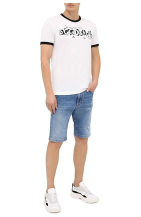 Мужская хлопковая футболка DOLCE & GABBANA белого цвета, арт. G8JX7T/FI733 | Фото 2