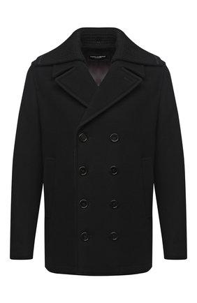 Мужской пальто из шерсти и кашемира DOLCE & GABBANA черного цвета, арт. G020RT/HUMDQ | Фото 1