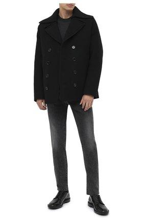 Мужской пальто из шерсти и кашемира DOLCE & GABBANA черного цвета, арт. G020RT/HUMDQ | Фото 2