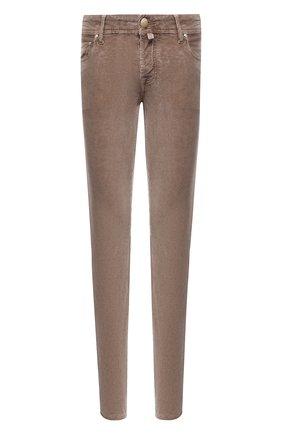 Мужской хлопковые брюки JACOB COHEN светло-коричневого цвета, арт. J688 C0MF 02077-V/54 | Фото 1