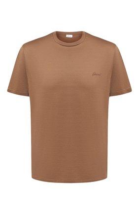 Мужская хлопковая футболка BRIONI бежевого цвета, арт. UJCA0L/PZ600   Фото 1