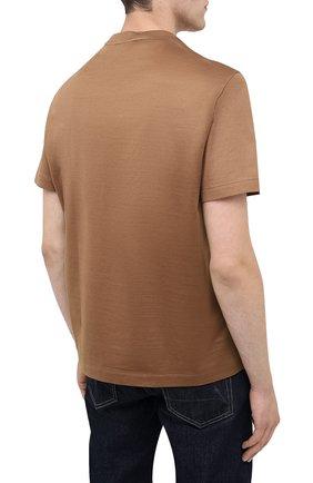 Мужская хлопковая футболка BRIONI бежевого цвета, арт. UJCA0L/PZ600 | Фото 4