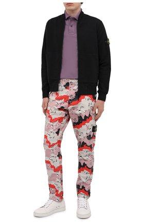 Мужское хлопковое поло STONE ISLAND темно-розового цвета, арт. 731522S18 | Фото 2