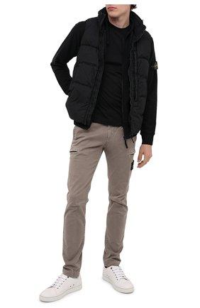 Мужская хлопковая футболка STONE ISLAND черного цвета, арт. 731524113 | Фото 2