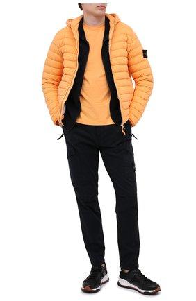 Мужская хлопковая футболка STONE ISLAND оранжевого цвета, арт. 731524113 | Фото 2