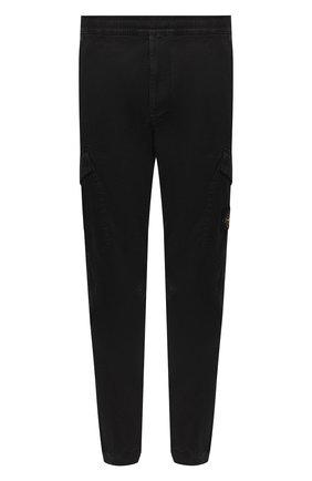 Мужской хлопковые брюки-карго STONE ISLAND черного цвета, арт. 7315314L1 | Фото 1