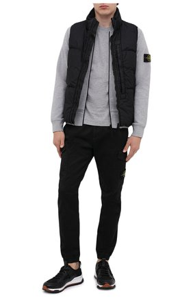 Мужской хлопковые брюки-карго STONE ISLAND черного цвета, арт. 7315314L1 | Фото 2