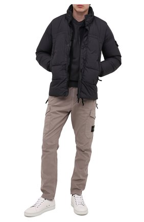 Мужская пуховая куртка STONE ISLAND темно-серого цвета, арт. 731540123 | Фото 2