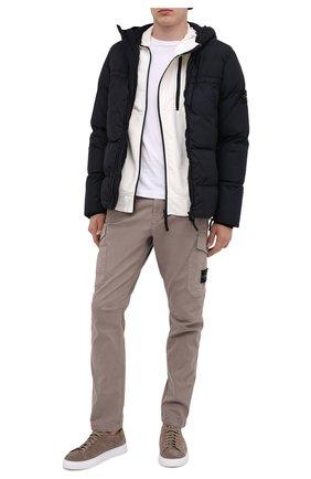 Мужская пуховая куртка STONE ISLAND темно-синего цвета, арт. 731540723 | Фото 2