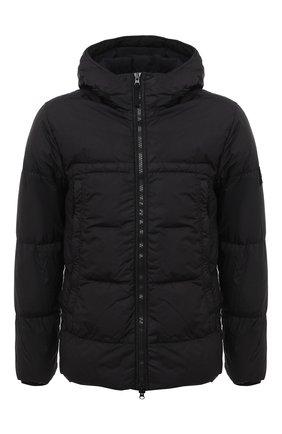 Мужская пуховая куртка STONE ISLAND черного цвета, арт. 731540723 | Фото 1