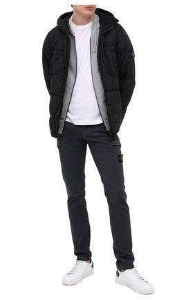 Мужская пуховая куртка STONE ISLAND черного цвета, арт. 731540723 | Фото 2