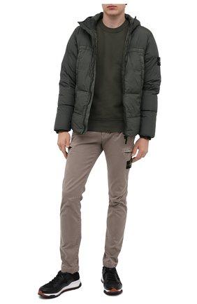 Мужская пуховая куртка STONE ISLAND темно-зеленого цвета, арт. 731540723 | Фото 2