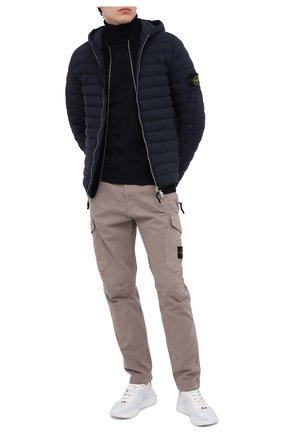 Мужская пуховая куртка STONE ISLAND темно-синего цвета, арт. 731541125 | Фото 2