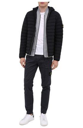Мужская пуховая куртка STONE ISLAND черного цвета, арт. 731541125 | Фото 2