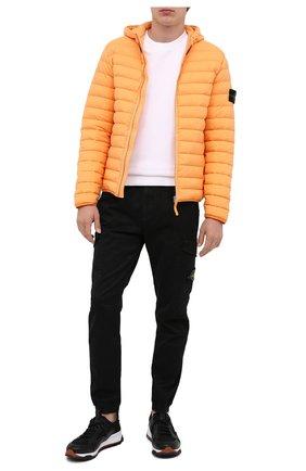 Мужская пуховая куртка STONE ISLAND оранжевого цвета, арт. 731541125 | Фото 2