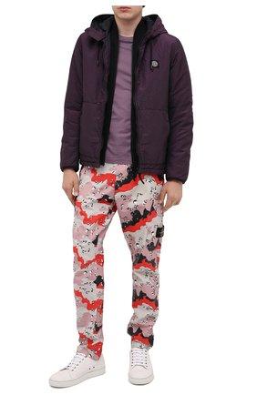 Мужская утепленная куртка STONE ISLAND фиолетового цвета, арт. 731544234 | Фото 2