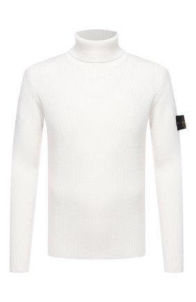 Мужской шерстяной свитер STONE ISLAND белого цвета, арт. 7315522C2 | Фото 1