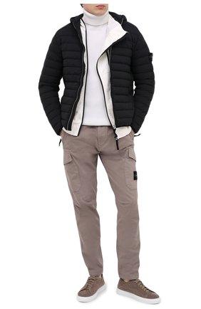 Мужской шерстяной свитер STONE ISLAND белого цвета, арт. 7315522C2 | Фото 2