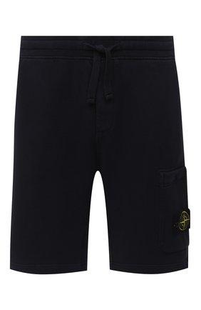 Мужские хлопковые шорты STONE ISLAND темно-синего цвета, арт. 731564620 | Фото 1