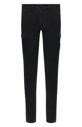 Мужской хлопковые брюки-карго STONE ISLAND темно-синего цвета, арт. 7315321L1 | Фото 1