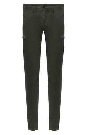 Мужской хлопковые брюки-карго STONE ISLAND зеленого цвета, арт. 7315321L1 | Фото 1
