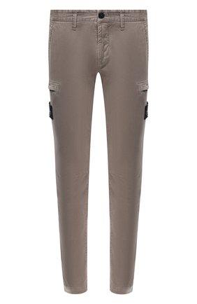 Мужской хлопковые брюки-карго STONE ISLAND серого цвета, арт. 7315321L1 | Фото 1