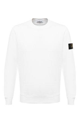 Мужской хлопковый свитшот STONE ISLAND белого цвета, арт. 731563020 | Фото 1