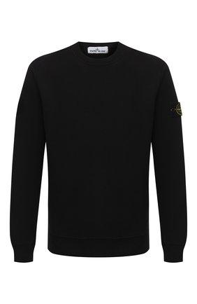 Мужской хлопковый свитшот STONE ISLAND черного цвета, арт. 731563020 | Фото 1