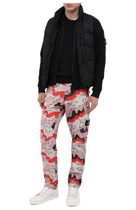 Мужской хлопковый свитшот STONE ISLAND черного цвета, арт. 731563020 | Фото 2