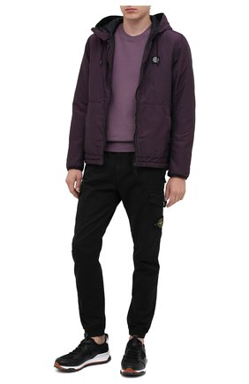 Мужской хлопковый свитшот STONE ISLAND темно-розового цвета, арт. 731563020 | Фото 2
