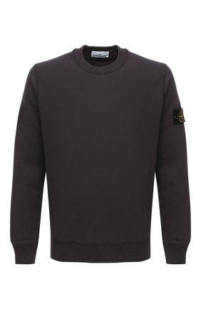 Мужской хлопковый свитшот STONE ISLAND темно-серого цвета, арт. 731563020 | Фото 1