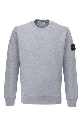 Мужской хлопковый свитшот STONE ISLAND серого цвета, арт. 731563020 | Фото 1