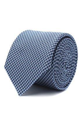 Мужской шелковый галстук BOSS голубого цвета, арт. 50441607 | Фото 1