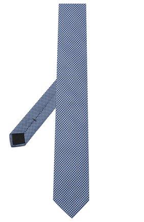 Мужской шелковый галстук BOSS голубого цвета, арт. 50441607 | Фото 2